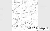 Blank Simple Map of Comayagua