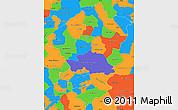 Political Simple Map of Comayagua