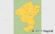 Savanna Style Simple Map of Comayagua, cropped outside