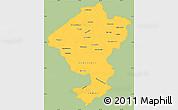 Savanna Style Simple Map of Comayagua, single color outside