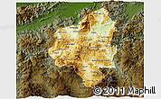 Physical 3D Map of Copan, darken
