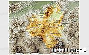 Physical 3D Map of Copan, semi-desaturated
