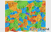 Political 3D Map of Copan