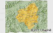 Savanna Style 3D Map of Copan