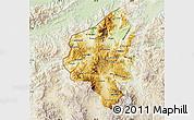 Physical Map of Copan, lighten