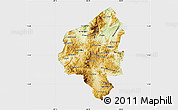 Physical Map of Copan, single color outside