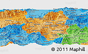 Political Shades Panoramic Map of Copan