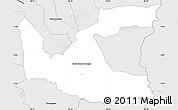 Silver Style Simple Map of Santa Rosa de Copan