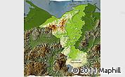 Physical 3D Map of Cortes, darken