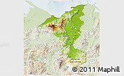 Physical 3D Map of Cortes, lighten