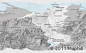 Gray Panoramic Map of Cortes