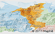 Political Shades Panoramic Map of Cortes, lighten
