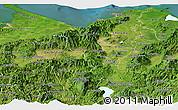 Satellite Panoramic Map of Cortes