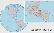 Gray Location Map of San Manuel