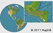 Satellite Location Map of San Manuel