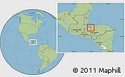 Savanna Style Location Map of San Manuel