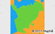 Political Simple Map of San Manuel