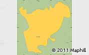 Savanna Style Simple Map of San Manuel
