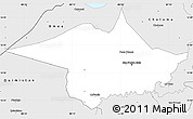 Silver Style Simple Map of San Pedro Sula