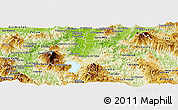 Physical Panoramic Map of Santa Cruz De Yojoa