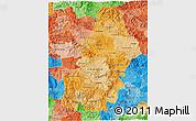 Political Shades 3D Map of Francisco Morazan
