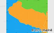 Political Simple Map of La Libertad