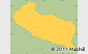 Savanna Style Simple Map of La Libertad