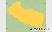 Savanna Style Simple Map of La Libertad, single color outside