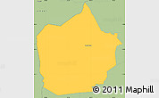 Savanna Style Simple Map of Lepaterique