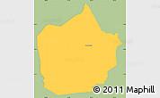 Savanna Style Simple Map of Lepaterique, single color outside