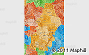 Political Shades Map of Francisco Morazan