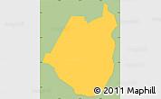 Savanna Style Simple Map of Maraita, single color outside