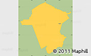 Savanna Style Simple Map of Ojojona, single color outside