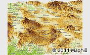Physical Panoramic Map of Francisco Morazan