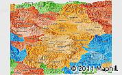 Political Shades Panoramic Map of Francisco Morazan