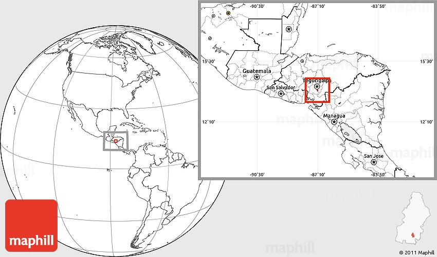 Blank Location Map of San Buenaventura