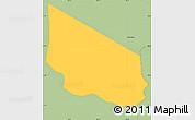 Savanna Style Simple Map of San Miguelito