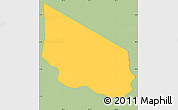 Savanna Style Simple Map of San Miguelito, single color outside