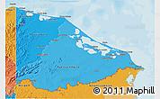 Political Shades 3D Map of Gracias a Dios