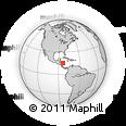 Outline Map of Gracias a Dios