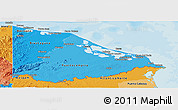 Political Shades Panoramic Map of Gracias a Dios