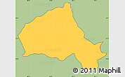 Savanna Style Simple Map of Camasca, cropped outside