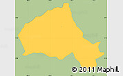 Savanna Style Simple Map of Camasca, single color outside
