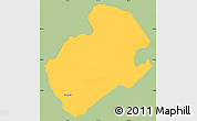 Savanna Style Simple Map of Concepcion, single color outside