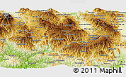 Physical Panoramic Map of Intibuca