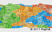 Political Shades Panoramic Map of Intibuca
