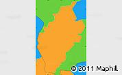 Political Simple Map of San Antonio
