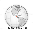 Outline Map of Santa Lucia