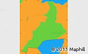 Political Simple Map of Santa Lucia