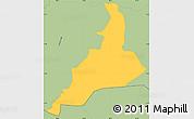 Savanna Style Simple Map of Santa Lucia